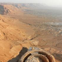 Vue depuis la pointe Nord de Masada