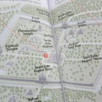 la geographie d'Angkor Thom