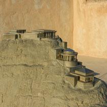 Maquette representant le palais d'Herode dans la ville de Masada