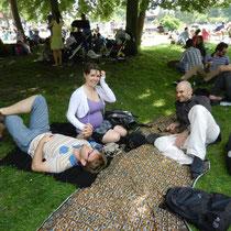 Concert de jazz au parc Floral avec ma soeur, son copain et un ami