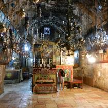 Salle dans laquelle se trouve la pierre sur laquelle le corps de la vierge aurait ete depose par les disciples de Jesus