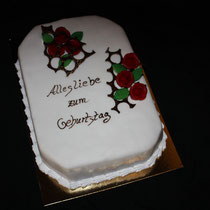 Elegante Geburtstagstorte