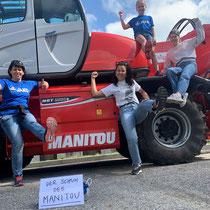 """Siegerteam """"Der Schuh des Manitou"""" Zitat: """"Der Name widerspiegelt unser Motto, denn """"Manitou"""" heisst """"die Kraft""""! Unser Fahrzeug begleitet uns dabei bei allen Abenteuer."""""""