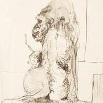Papier, Zeichnung, Skizze, Bleistift, Gorilla, Kunst