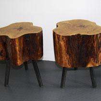 Hocker, Holz, Füsse, massiv, Tilmann Bohne, Holzsteinpapier