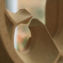 Masswerk, 3-telige Fischblase, Tilmann Bohne, Holzsteinpapier