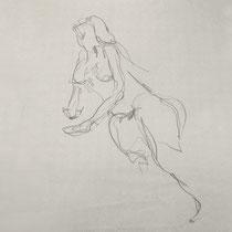 Papier, Zeichnung, Frau, Akt, Skizze, Bleistift, Kunst