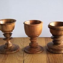 Eierbecher, Holz, Drechselarbeit, Tilmann Bohne, Holzsteinpapier