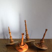 Kreisel, Holz, Drechselarbeit, Tilmann Bohne, Holzsteinpapier