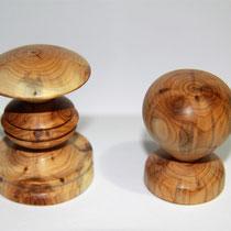 Haken, Holz, Drechselarbeit, Tilmann Bohne, Holzsteinpapier