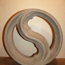 Masswerk, 2-telige Fischblase, Tilmann Bohne, Holzsteinpapier