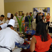 Die Küchenmannschaft im Hilton Mauritius legte sich ins Zeug
