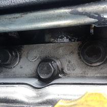 Partie moteur nettoyée avec la solution