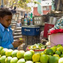 Preparing lemonade - Nehru Place