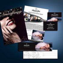 Alessandro: Visitenkarten, Gutscheine, Mailings, Flyer