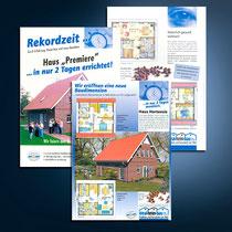idealheimbau: Flyer, Broschüren