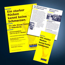Kieser Training: Broschüren, Flyer, Anzeigen, Mailings