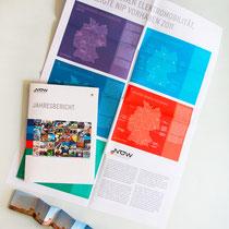 Portfolio Dorina Rundel - Grafikdesignerin: NOW Jahresbericht, Plakat und Leporello