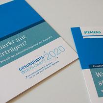 Portfolio Dorina Rundel - Grafikdesignerin: Siemens Ideenforum - Einladungskarte