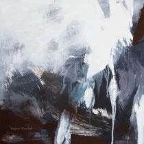 Ohne Titel, Acryl und Pigment auf Leinwand, 80x80, Regina Wuschek