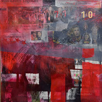 Der 4. Stern, 2014, Mixed Media, 80x80, Regina Wuschek