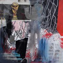 Die KRÖNUNG, 2014, Mixed Media, 80x80, Regina Wuschek