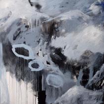 Ohne Titel, Acryl und Pigment auf Leinwand, 120x120, Regina Wuschek