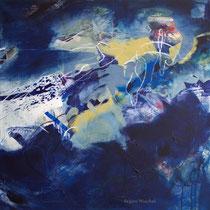 Das Dunkle, Acryl und Pigment auf Leinwand, 80x80, Regina Wuschek
