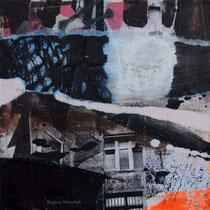 Ohne Titel, Mixed Media auf Holzkörper, 15x15, Regina Wuschek