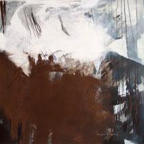 Ohne Titel, Acryl und Pigment auf Leinwand, 100x100, Regina Wuschek