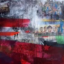 Das Spiel ihres Lebens, 2014, 80x80, Regina Wuschek