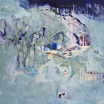 Das Helle, Acryl und Pigment auf Leinwand, 80x80, Regina Wuschek