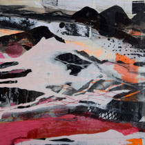 Ohne Titel, Mixed Media auf Holzkörper, 30x30, Regina Wuschek