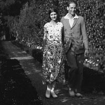"""Les """"parents"""" de Babar (son créateur Jean de Brunhoff et son épouse Cécile Sabouraud)"""