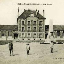 1 - École communale de Villiers-sur-Marne dans les années 1920 (source : Réseau-canope.fr)