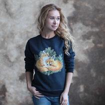 Толстовка-свитшот с лисичками