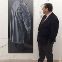 dad in studio with 'Recluse', 2006