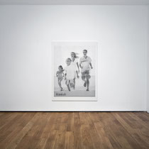 'Ideal Family' 200x155cm oil on canvas (as installed during 'Coming Soon'), 2011