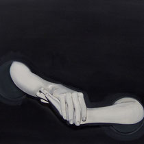 'Corinna's Box' 70x110 cm pencil and oil on canvas, 2005