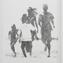 'Ideal Family (b&w)' 73x53cm (framed) graphite on paper, 2011
