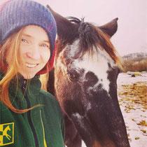 Jana aus Prag (sie fand uns über workaway) mit Marizza