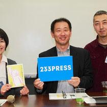 恒例のインタビューコーナー。岩田さんの優しい語り口に皆さん聴き入ってました。