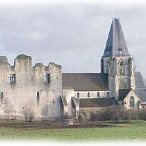 Château fort et collégiale Saint-Martin côté sud