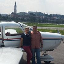 Der Pilot und seine Frau
