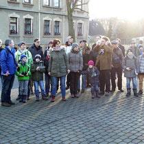 30 Naturfreunde kamen und beteiligten sich damit an der Stunde der Wintervögel.