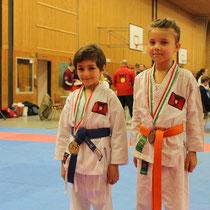Timur Can und Luise, 1. und 3. Platz Kata Kinder U9 W/M Mixed