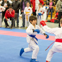 Semih Can in Aktion beim Kumite