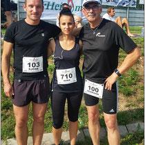Nina, Hermann und ich vor dem Start.