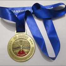 Schönes Ding: Die Marathonmedaille.