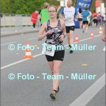 Sina bei einem Laufwettbewerb.